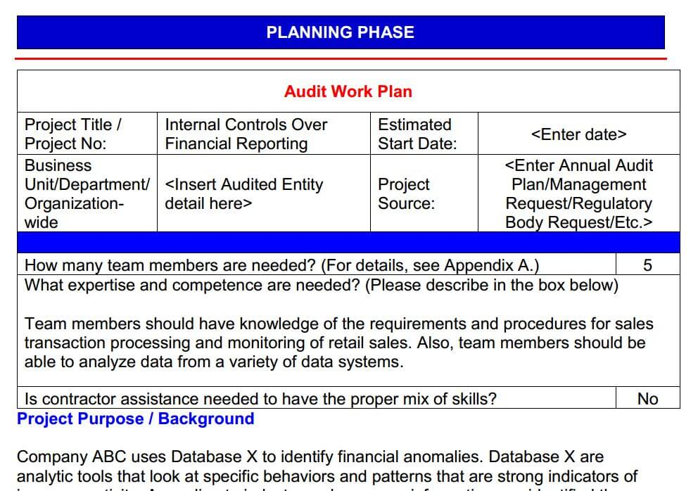 planning phase document