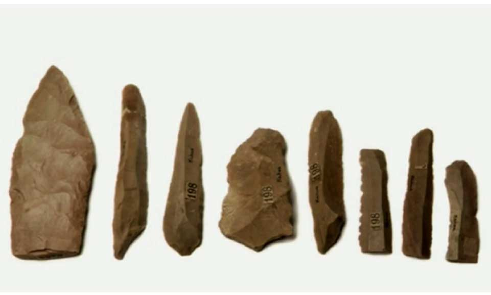 series-of-stone-tools-made-from-flint-or-chert